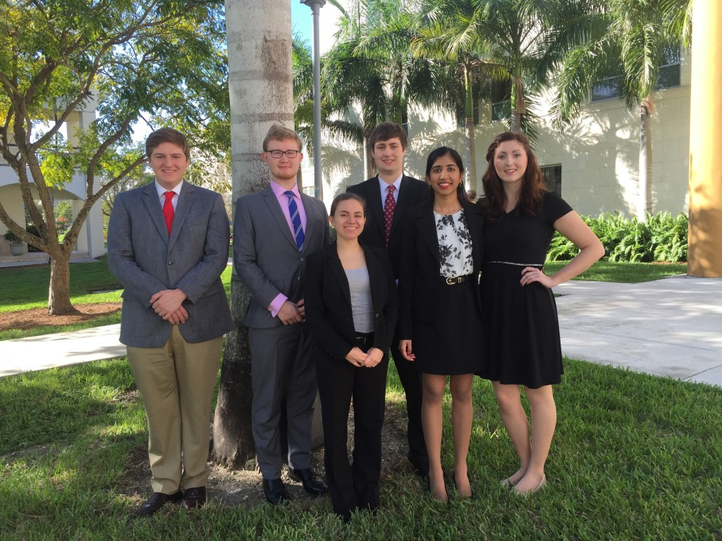 UConn Moot Court Competition Team 2015 in Miami